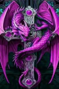 the purple dragon roars more dragon s fantasy art gothic dragon anne