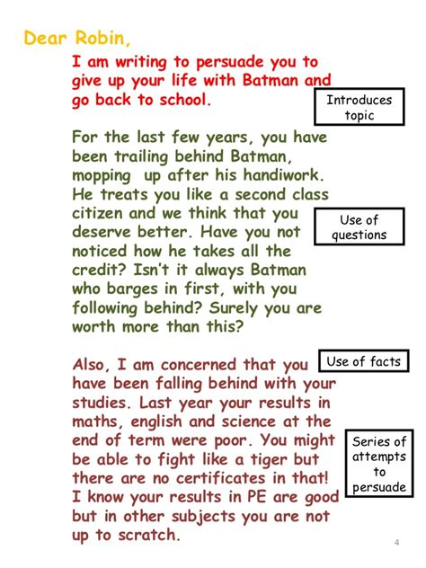 Formal Letter Year 3 Batman S Letter