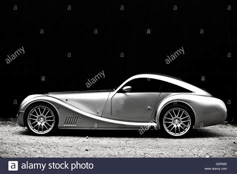 sports car side view silver metallic aeromax sports car side view stock