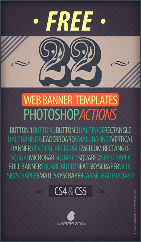 Free 22 Web Banner Photoshop Action Templates On Behance Banner Design Templates In Photoshop Free