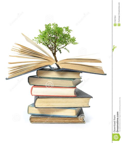 the tree picture book tree growing from book stock photo image of science