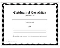 Printable Certificate Of Completion Awards Certificates Templates Pdh Certificate Template