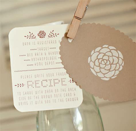 Handmade Bridal Shower Invitations - sweet handmade bridal shower invitations invitation crush