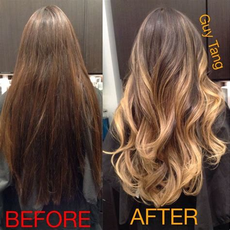 guy tang hair before and after guy tang signature ombr 233 and layer cut yelp hair