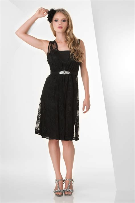Black Dress Knee Length   Dress FA