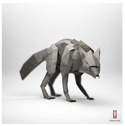 Paper Animals - digital meets analog inspiring dreamy digital origami