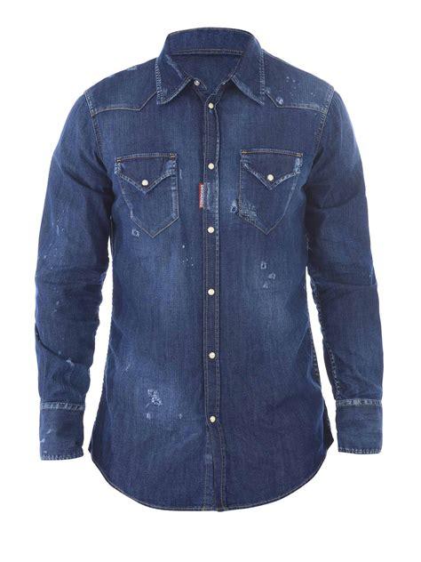 Western Denim Shirt western denim shirt by dsquared2 shirts ikrix