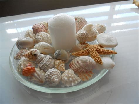 wedding shower table decorations theme seashell and