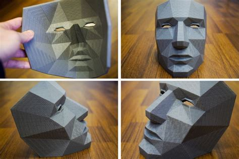 How To Make A 3d Paper Mask - low polygon mask polygons masking