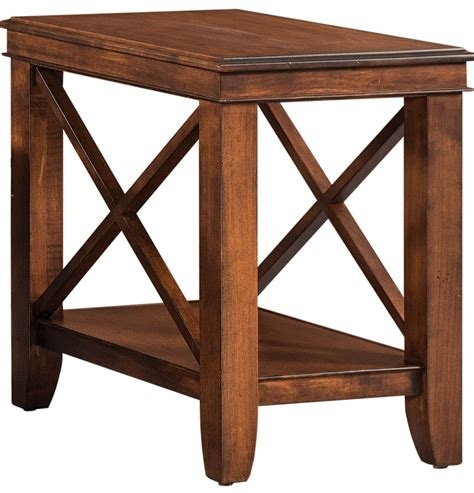 table lake forest lake forest narrow side table countryside amish furniture