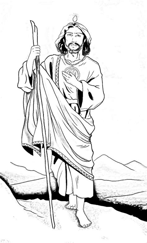 為孩子們的著色頁 st jude thaddeus coloring pages
