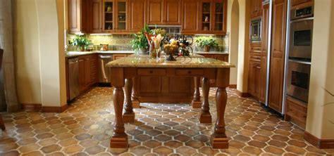Concrete Tile Kitchen Flooring   Westside Tile and Stone