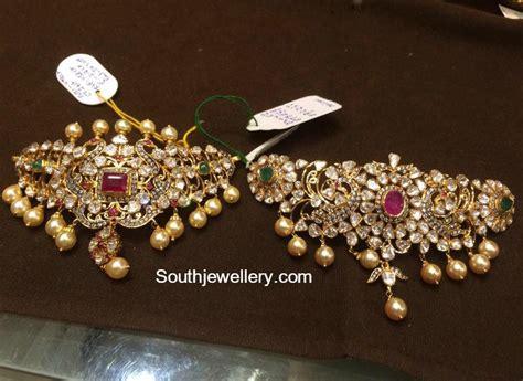 Bajuband Choker polki choker bajuband designs jewellery designs