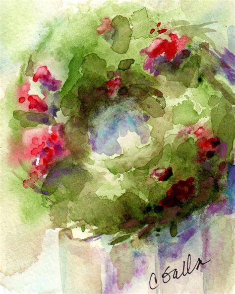 barnwood christmas wreath print from by corinnegallafineart