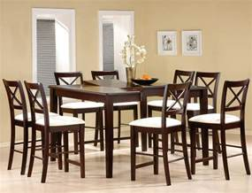 Furniture Dining Room Sets Cappuccino Finish Counter Height Dining Room Set Counter Height Dining Sets
