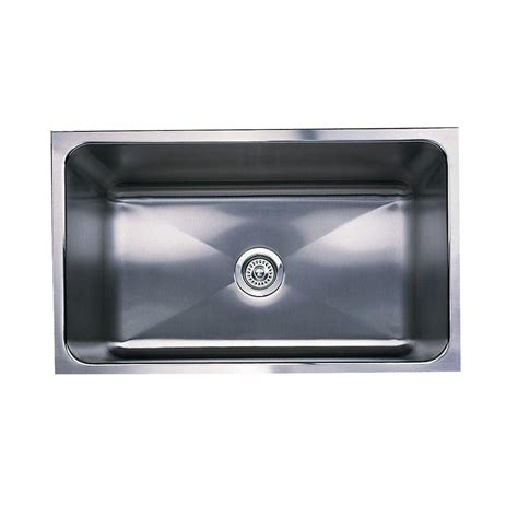 Blanco Stainless Steel Kitchen Sinks Blanco Magnum Undermount Stainless Steel 31 In Single Basin Kitchen Sink 440302 The Home Depot