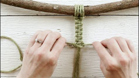 Easy Macrame Knots - basic macrame knots simple square knot tutorial adding