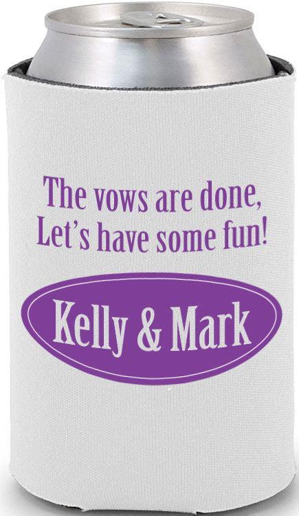 funny wedding koozie quotes