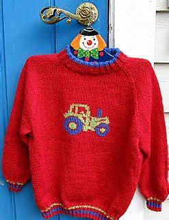 Mania 4 Raglan ravelry 0701 03 raglan genser med traktor pattern by