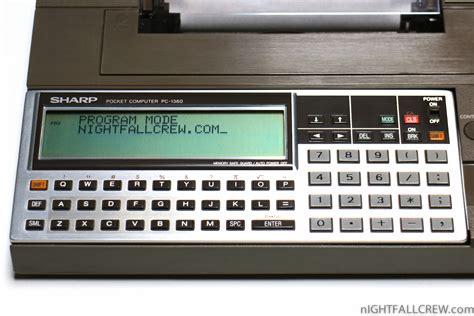 Komputer Sharp sharp pocket computer pc 1360 boxed color dot printer