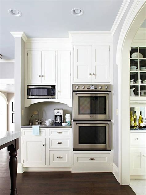 double oven kitchen cabinet built in microwave design ideas