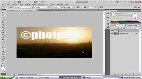 membuat watermark di photoshop cs5 photoshop cs5 watermark tutorial youtube
