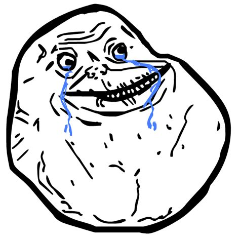 Forever Alone Meme Face - what is internet meme and where to use them png all