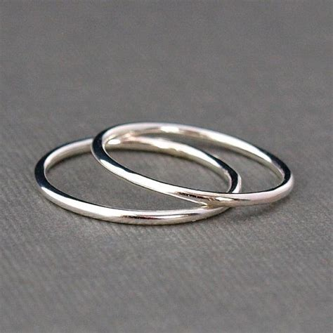 best 25 simple silver rings ideas on rings