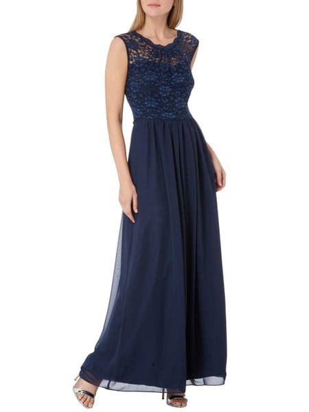 Swing Abendkleid Dunkelblau by Swing Abendkleid Mit Oberteil Aus Spitze In Blau T 252 Rkis