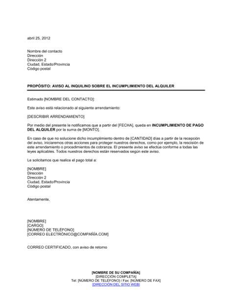 aumento por inflacion para arrendamiento manejo notificaci 243 n al inquilino sobre el incumplimiento del