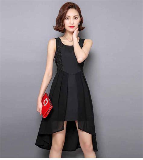 Dress Wanita Inner Hitam dress pesta lengan buntung warna hitam model terbaru