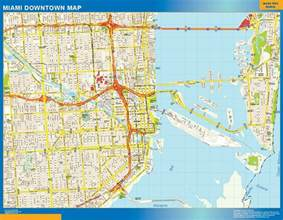 Map Of Downtown Miami by World Wall Maps Store Miami Downtown Map More Than 10