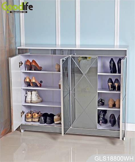 armadi per scarpe lusso a specchio in legno armadio di stoccaggio scarpe per