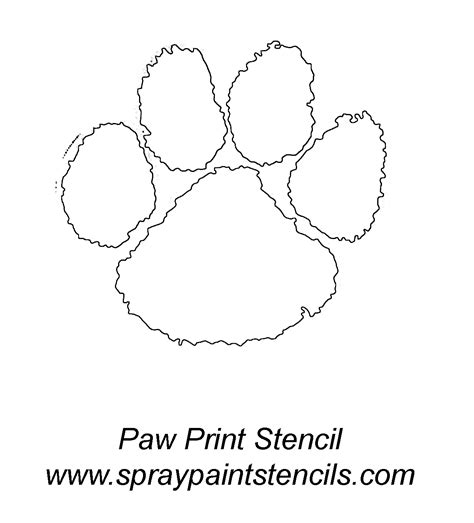 tiger paw template spray paint stencils panther paw print stencil outline