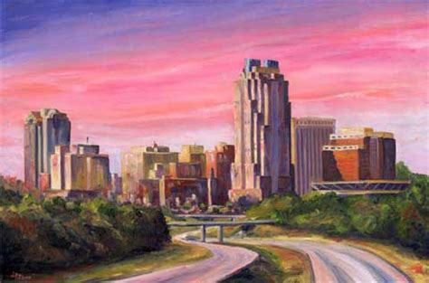 city skyline paintings and prints of cityscapes