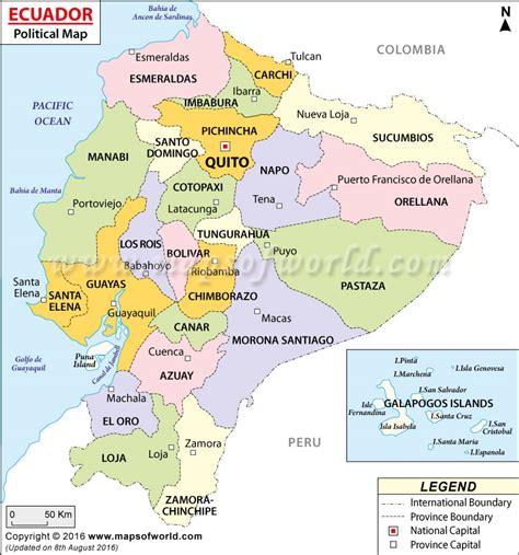 ecuador on map political map of ecuador ecuador provinces map
