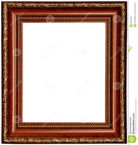 Wood Texture Painting - gold and wood frame royalty free stock photo image 20085235