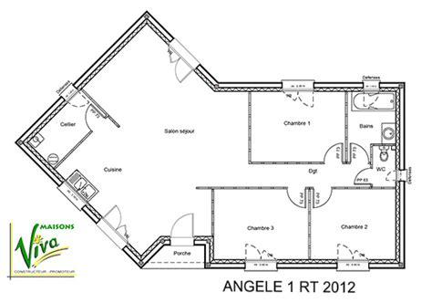 Plan Maison En V 4804 by Mod 232 Le Et Plans Angele 1 Du Constructeur Maisons Viva