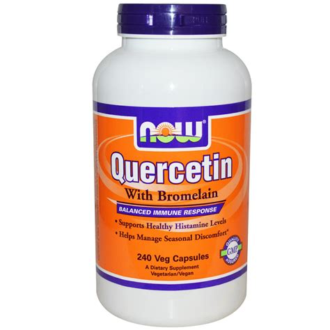 supplement quercetin now foods quercetin with bromelain 240 veg capsules