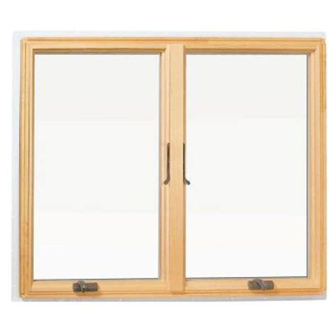 andersen awning window andersen 48 in x 48 in 400 series casement wood window white 9117172 the home depot