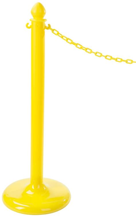 5 Filled Posts On Antb by Yellow Plastic Post Stanchions Weighted Sand Filled Base