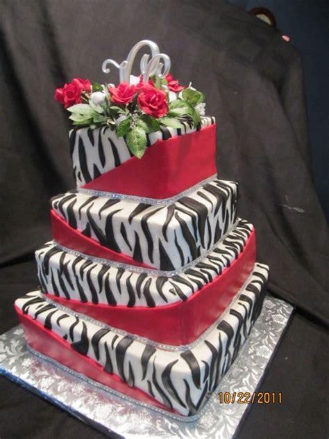 zebra pattern cake ideas red leopard print cake