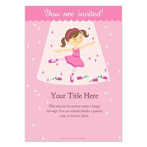 6th birthday invitation card template free ballerina birthday invitations templates pingg