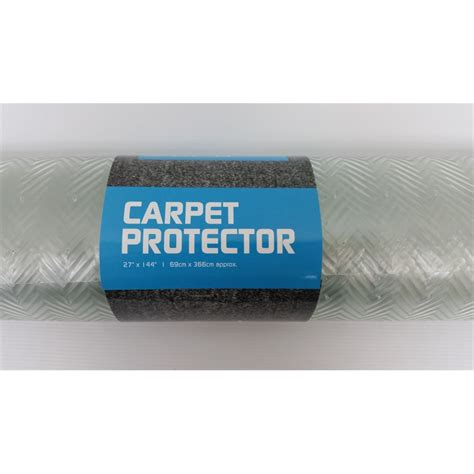 clear rug protector prestige carpet protector 690x3660mm clear bunnings warehouse