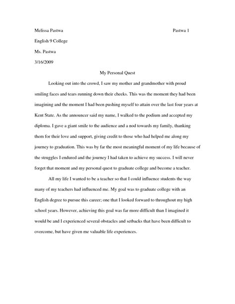 narrative cover letter exles of personal narrative essays for college