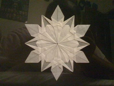 Snow Origami - snowflakes origami and origami on