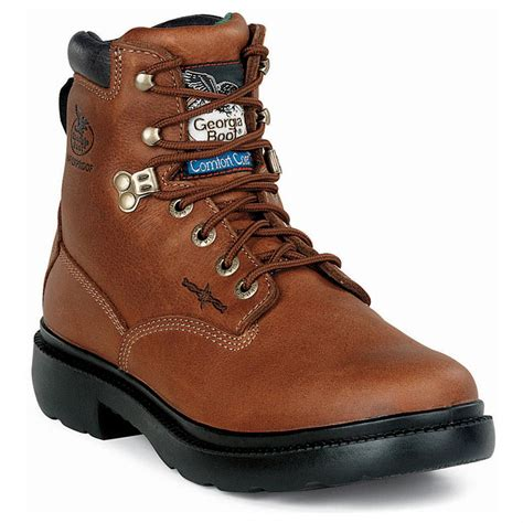 comfortable work boots mens men s georgia boot 174 company 6 quot waterproof comfort core