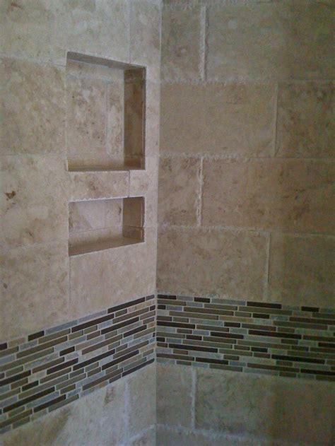 master bathroom chiseled travertine shower http 6x12 chiseled edge travertine field tile with stone glass