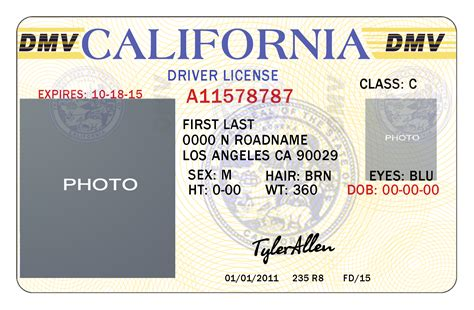 license template 10 california drivers id template psd images california