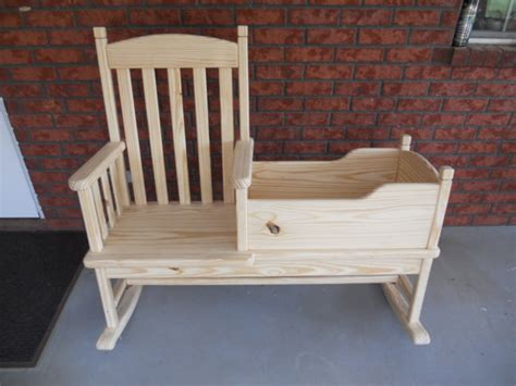 rocking chair cradle hybrid items similar to and me rocking chair cradle
